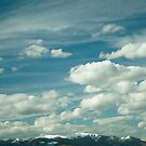 Montana Big Sky and Snow-Capped Mountains by Stacey Lynn Payne