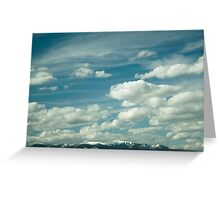 Montana Big Sky and Snow-Capped Mountains Greeting Card