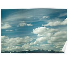 Montana Big Sky and Snow-Capped Mountains Poster
