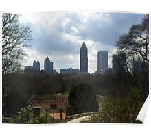 View of Atlanta from Botanical Gardens Poster