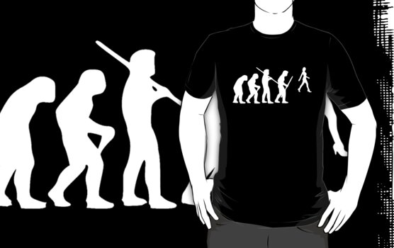 evolution of the chase on dark tee by ralphyboy