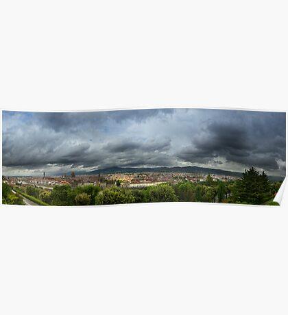 Panoramic Florence Poster
