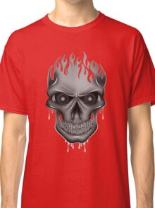 Flame Skull - Silver Classic T-Shirt
