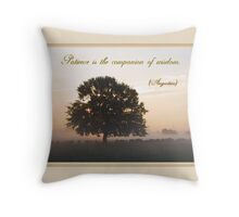 Patience is the Companion of Wisdom Throw Pillow