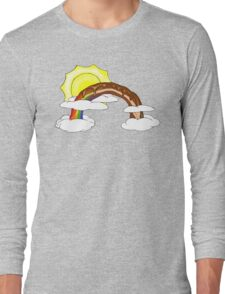 Chocolate Bacon Rainbow Long Sleeve T-Shirt