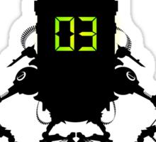 Killbot 03 - Bitter Pill Sticker Squadron Sticker