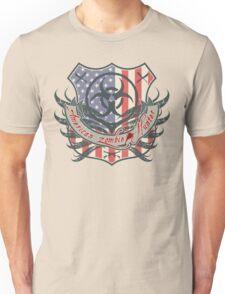 American Zombie Hunter shield Unisex T-Shirt