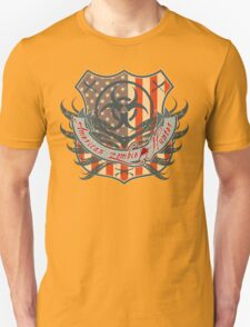 American Zombie Hunter shield T-Shirt