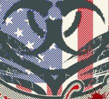 American Zombie Hunter shield Sticker