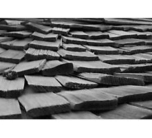 Weathered Wooden Shingles Photographic Print