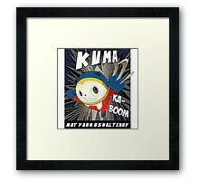 Not your usual teddy Framed Print