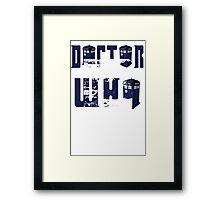 doctor who design Framed Print