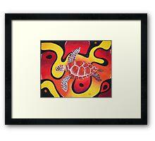 Red Turtle Teddie Framed Print