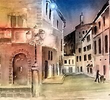 Street Scene In Italy by arline wagner