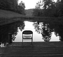 Old Chair at Howard's Pond by Kent Nickell