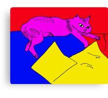 zoe the cat Canvas Print