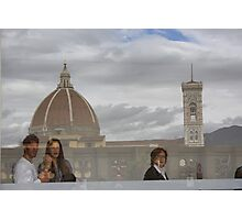 Relections on Uffizi roof top cafe Photographic Print