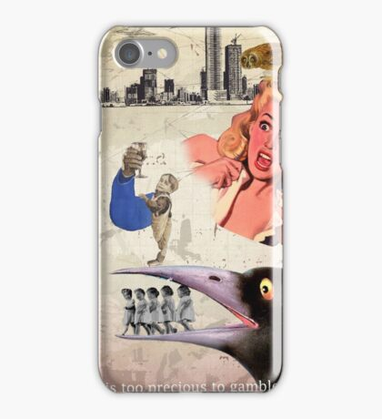 Life is too precious to gamble on  iPhone Case/Skin