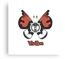 Vivillon a Pokemon shirt Canvas Print