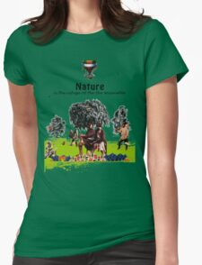 A refuge from poverty Womens Fitted T-Shirt