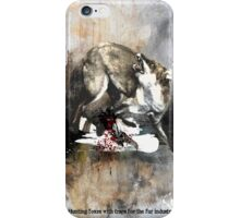 Hunting foxes iPhone Case/Skin