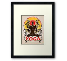 Yoga : Physical Mental Spiritual Discipline  Framed Print