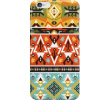 Seamless bright pattern with geometric elements in navajo style iPhone Case/Skin