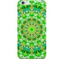 Green Kaleidoscope Pattern iPhone Case/Skin