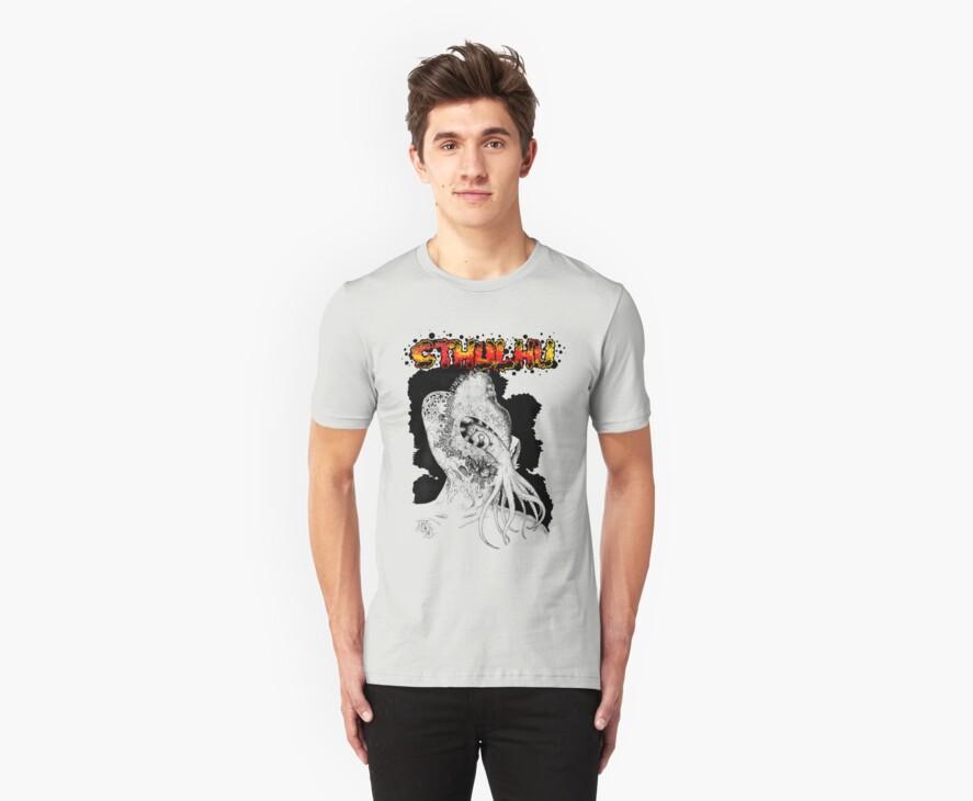 Cthulhu Tshirt by Pete Janes