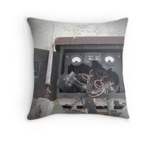 Johnny Five Is Not Alive Throw Pillow