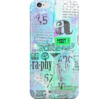 Mixed Media Typography iPhone Case/Skin