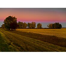 Golden hour on the prairies Photographic Print