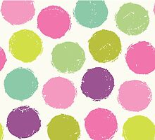 Retro Dots Pink by daisy-beatrice