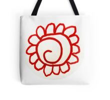 Ethnique - Spiral Sun in Red Tote Bag
