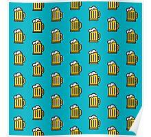 Beer Pattern - Drinks Series Poster