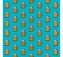 Beer Pattern - Drinks Series Photographic Print