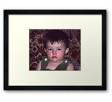 Sour Puss (Thank God This Year is Almost Over) Framed Print