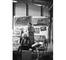 Artist Selby Warren & Wife in his gallery, Abercrombie Caves, NSW.  Photographic Print