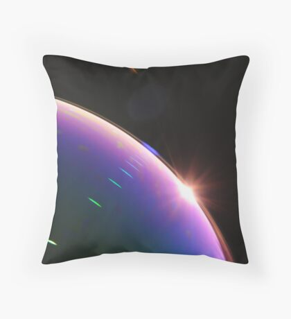 Solar Flares on Planet Soap Bubble Throw Pillow
