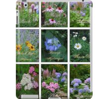 Photographer's Perennial Garden Collage iPad Case/Skin