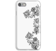 B&W Floral Pattern iPhone Case/Skin