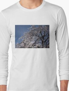 Sparkling Icy Tree - Mother Nature's Decoration Long Sleeve T-Shirt