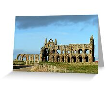 Whitby Abbey ruined yet still glorious Greeting Card