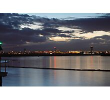 Sydney Airport Dusk Takeoff Photographic Print