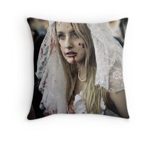 Nice Day for a White Wedding Throw Pillow