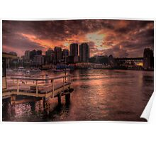 Natures Photoshop - McMahons Point, Sydney Harbour - The HDR Experience Poster