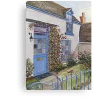 """The Robin"" - Cornish Cottage Canvas Print"