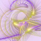 Whimsical In Purple by Deborah  Benoit