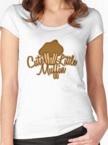 Cute Little Muffin Women's Fitted Scoop T-Shirt