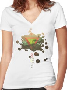 SINKING TO NEW HEIGHTS Women's Fitted V-Neck T-Shirt
